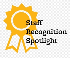 Recognize a staff member.