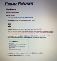 Northwestern Parent/Athlete Final Forms Registration