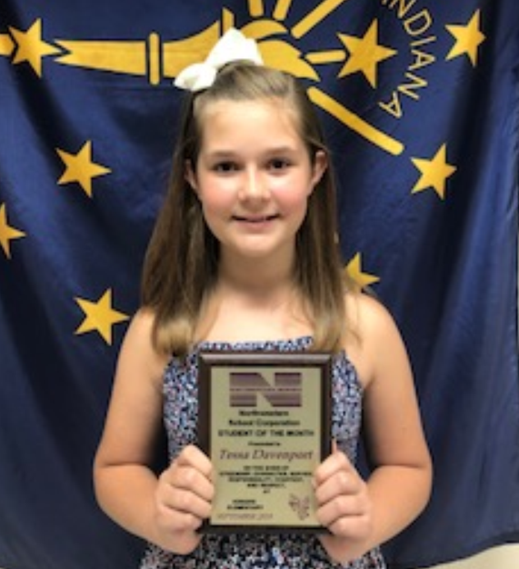 Tessa Davenport is our Student of the month!