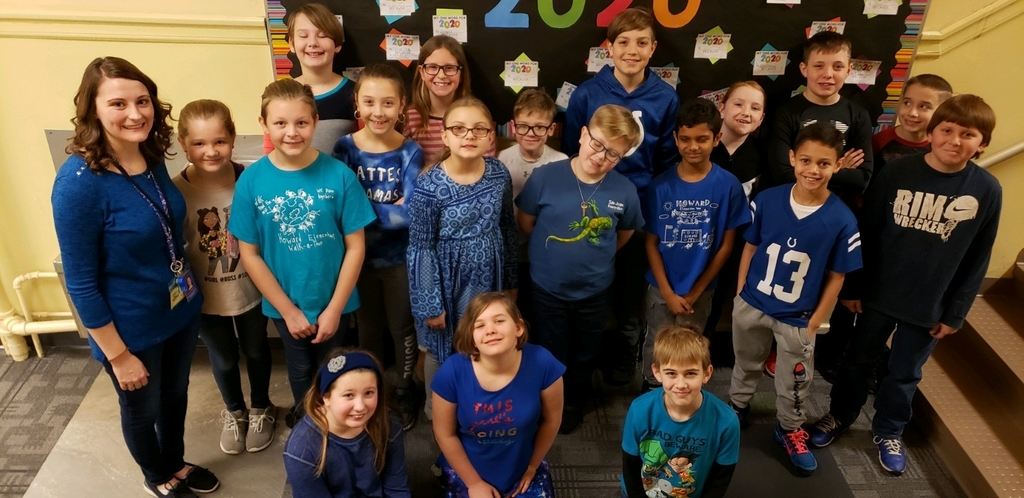 4th-Grade wore blue for Law Enforcement Day!