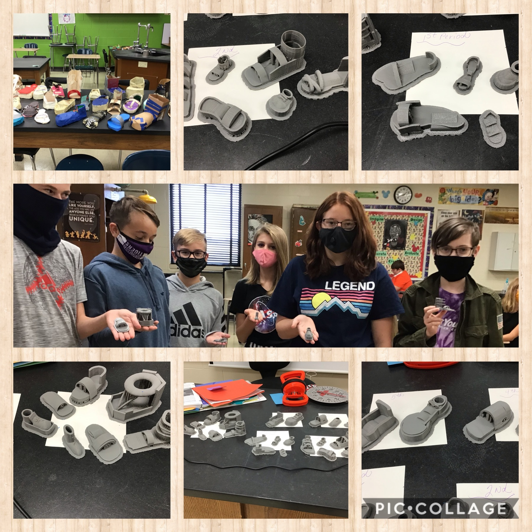 Mrs. Sinnamon's Class studied, designed, and built a prototype  based on what they learned in a biomedical engineering unit.